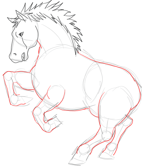 Step 5 : Drawing Epona and Link Step by Step Drawing Tutorial
