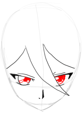 Step 5 : Drawing Rukia Kuchiki in easy Steps Lesson