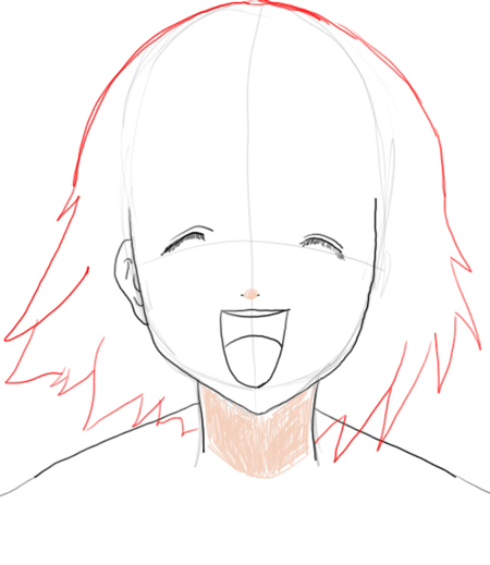 Step 5 : Drawing Orihime Inoue in Easy Steps Tutorial
