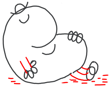 Step 5 : Drawing Mr. Lazy from Mr. Men in step by step tutorial