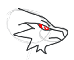 Step 6 : Drawing Reshiram in Easy Step by Step Tutorial