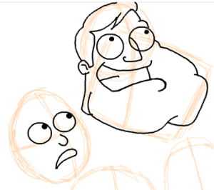 Step 8 : Drawing American Dad Family Step by Step Lesson