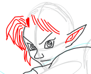 Step 8: Drawing Link from Legend of Zelda in Easy Steps Lesson