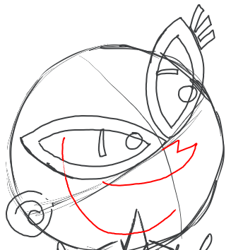 Step 8 : Drawing Tootsie from Fairly Odd Parents Tutorial