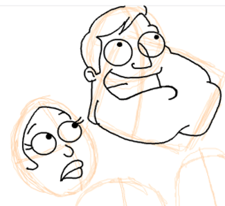 Step 9 : Drawing American Dad Family Step by Step Lesson