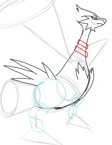 Step 9 : Drawing Reshiram in Easy Step by Step Tutorial
