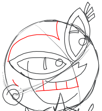 Step 9 : Drawing Tootsie from Fairly Odd Parents Tutorial