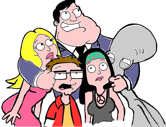 How to Draw American Dad Characters Stan Francine Haley Steve and Roger in Step by Step Drawing Tutorial