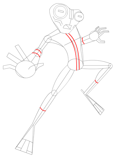 Step 10 Drawing Grey Matter Alien from Ben 10 Lesson