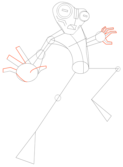 Step 7 Drawing Grey Matter Alien from Ben 10 Lesson