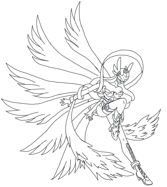 How to Draw Angewomon from Digimon with Step by Step Drawing Tutorial
