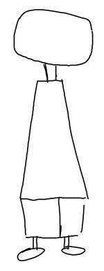 Step 1 : Drawing Edd from Ed, Edd, and Eddy in Easy Steps Tutorial
