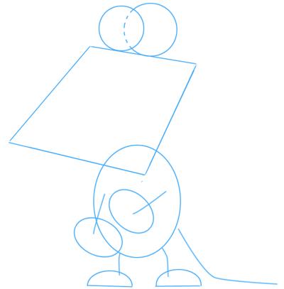 Step 1 : Drawing Cartoon Alligators & Crocs Step by Step Lesson