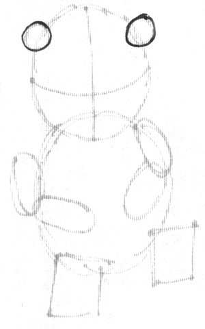 Step 2 : Drawing a Cartoon Beaver Step by Step Tutorial