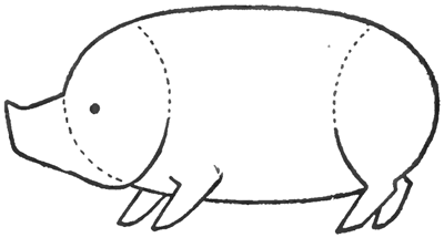 Step 3 : Drawing Comic Hogs and Pigs