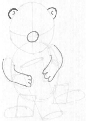 Step 3 : Drawing a Cartoon Beaver Step by Step Tutorial