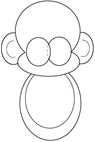 Step 3 : Drawing Cartoon Baby Monkeys in Easy Steps