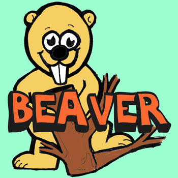 How to Draw Cartoon Beavers in Easy Steps Drawing Lesson