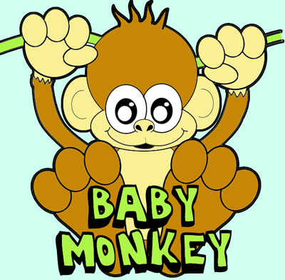 How to Draw a Cartoon Baby Monkey with Easy Step by Step Drawing Tutorial