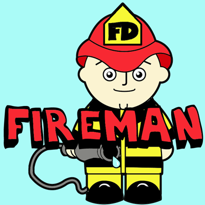How to Draw a Cartoon Fireman in Easy Steps Drawing Tutorial
