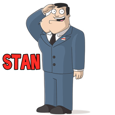How to Draw Stan from American Dad in Easy Steps Drawing Tutorial
