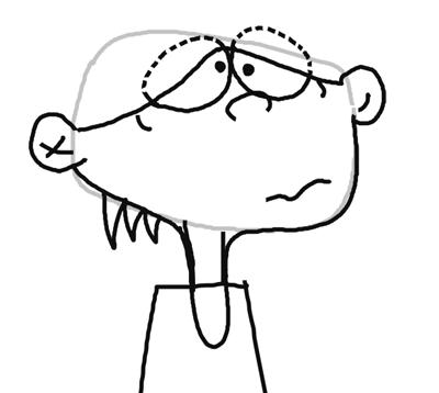 Step 4 : Drawing Edd from Ed, Edd, and Eddy in Easy Steps Tutorial