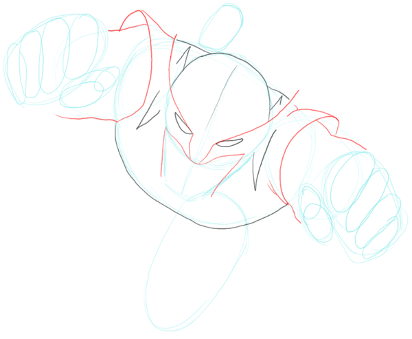 Step 4 : Drawing DC Comics Wolverine in Easy Steps Lesson