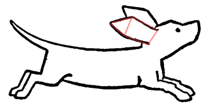Step 4 : Drawing Cartoon Dogs Running