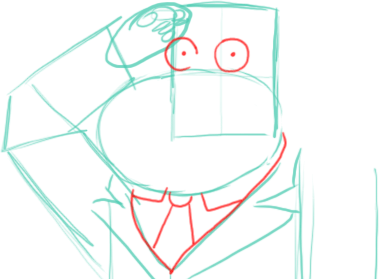 Step 4 : Drawing Stan the Dad from American Dad Step by Step Tutorial