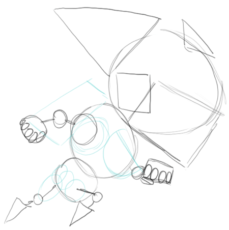 Step 4 Drawing Gravity Guy in Easy Steps Lesson