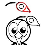 Step 5 : Drawing Peacocks Easy Steps Lesson