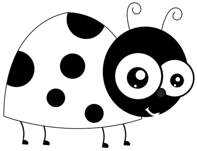 how to draw a ladybug on a rock