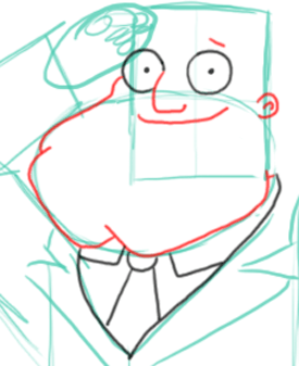 Step 5 : Drawing Stan the Dad from American Dad Step by Step Tutorial