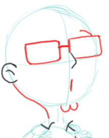Step 5 : Drawing Steve Smith Step by Step Lesson