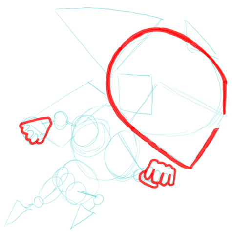 Step 5 Drawing Gravity Guy in Easy Steps Lesson