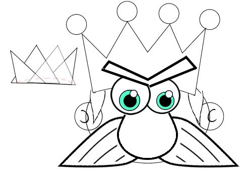 Step 6 : Drawing Cartoon Kings Easy Steps Tutorial