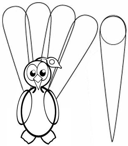 Step 6 : Drawing Peacocks Easy Steps Lesson
