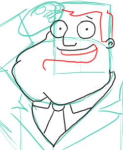 Step 6 : Drawing Stan the Dad from American Dad Step by Step Tutorial