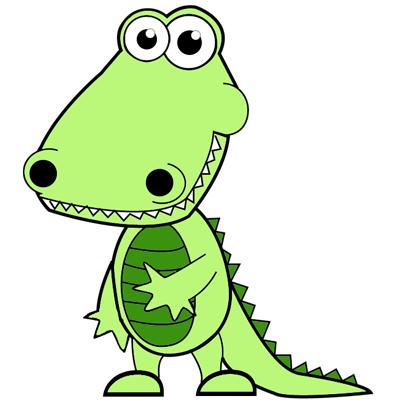 how to draw a crocodile cartoon