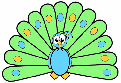 How to Draw Cartoon Peacocks Step by Step Drawing Tutorial