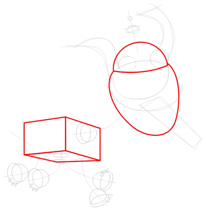Step 2 : Drawing Goddard the Dog Robot from Jimmy Neutron Tutorial