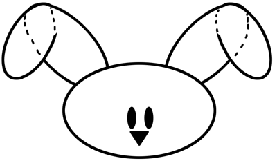 Step 2 : Drawing Easter Bunny Lesson for Children