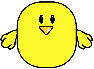 Step 3 : Drawing Easter Chicks Tutorial