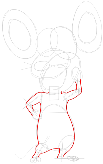 Step 3 : Drawing Pip Mouse from Barnyard Lesson