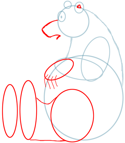 Step 3 Drawing Bears in Easy Steps Lesson