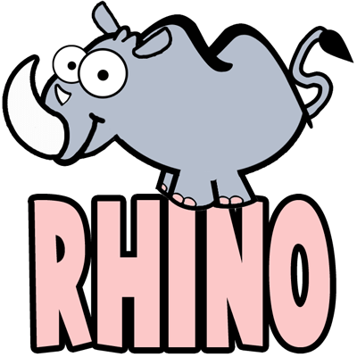 How to Draw Cartoon Rhinos in Easy Step by Step Drawing Tutorial