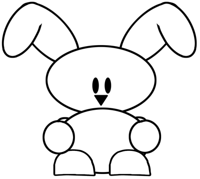 Step 4 : Drawing Easter Bunny Lesson for Children