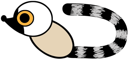Step 4 : Drawing Cartoon Lemurs Step by Step