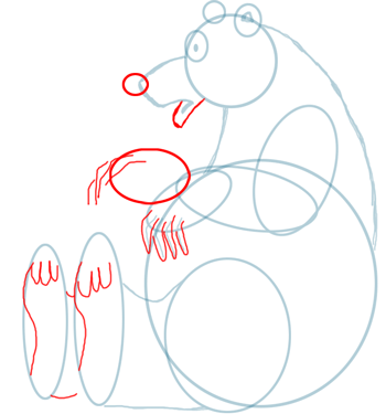 Step 4 Drawing Bears in Easy Steps Lesson