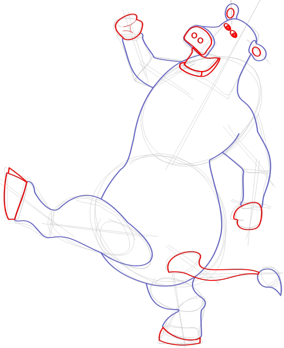 step 5 drawing otis the cow tutorial